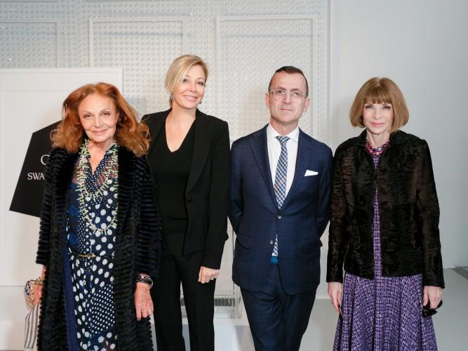 Diane Von Furstenburg, Nadja Swarovski, Steven Kolb, Anna Wintour