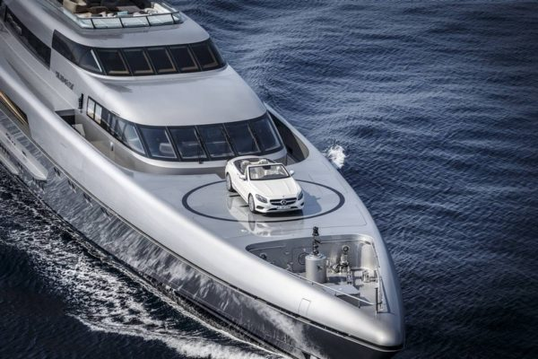 Now if you're a super-super rich person you'll probably have a yacht.