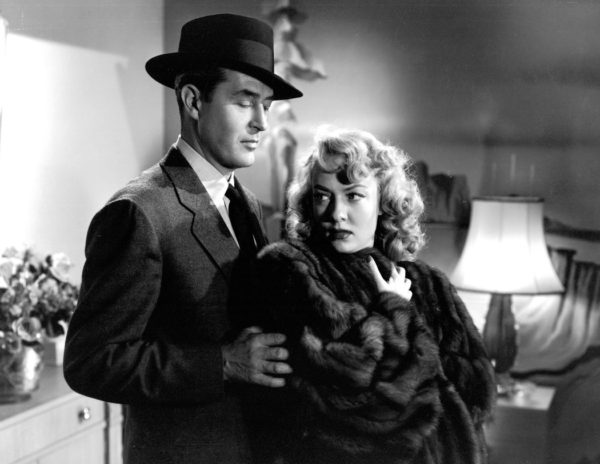 """Audrey Totter with Ray Milland in """"Alias Nick Bea"""" (1949)"""