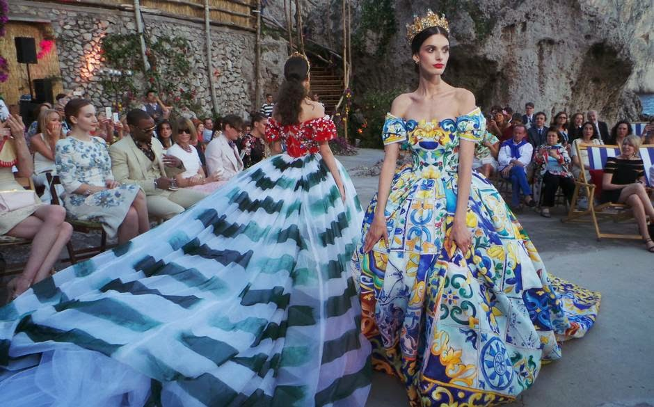 Dolce & Gabbana Haute Couture FW 2014-2015 Alta Moda collection was lavishly presented on the island of Capri
