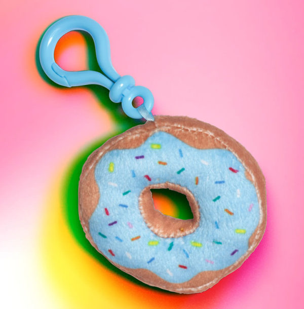 Dylan's Candy Bar Plush Donut Key Charm