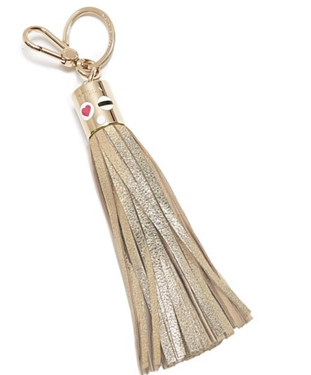 Furla's Metallic Lady Fringe Bag Charm