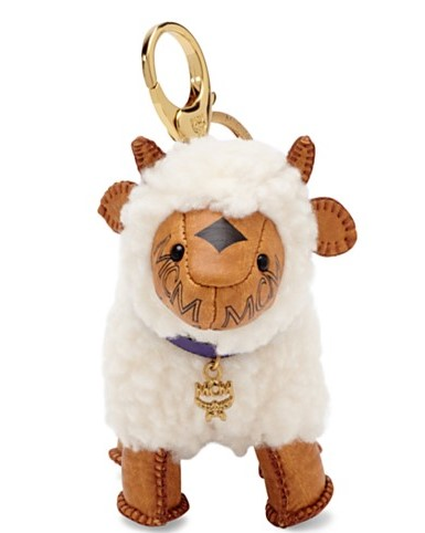 MCM little lamb charm- Visetos Sheep Bag Charm