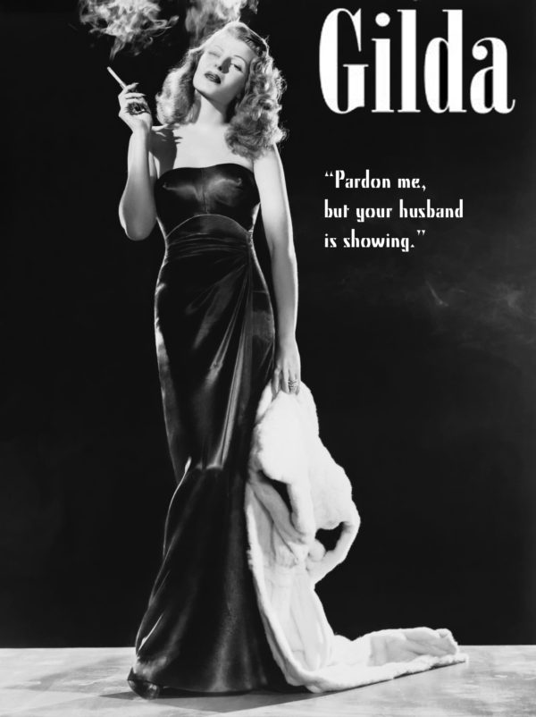 This poster emphasizes the power that Gilda had as a femme fatale, by having her be the center of attention