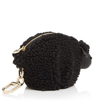 Tory Burch Steve the Sheep bag charm in black