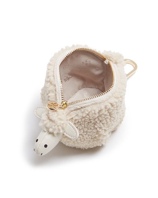Tory Burch Steve the Sheep bag charm in white