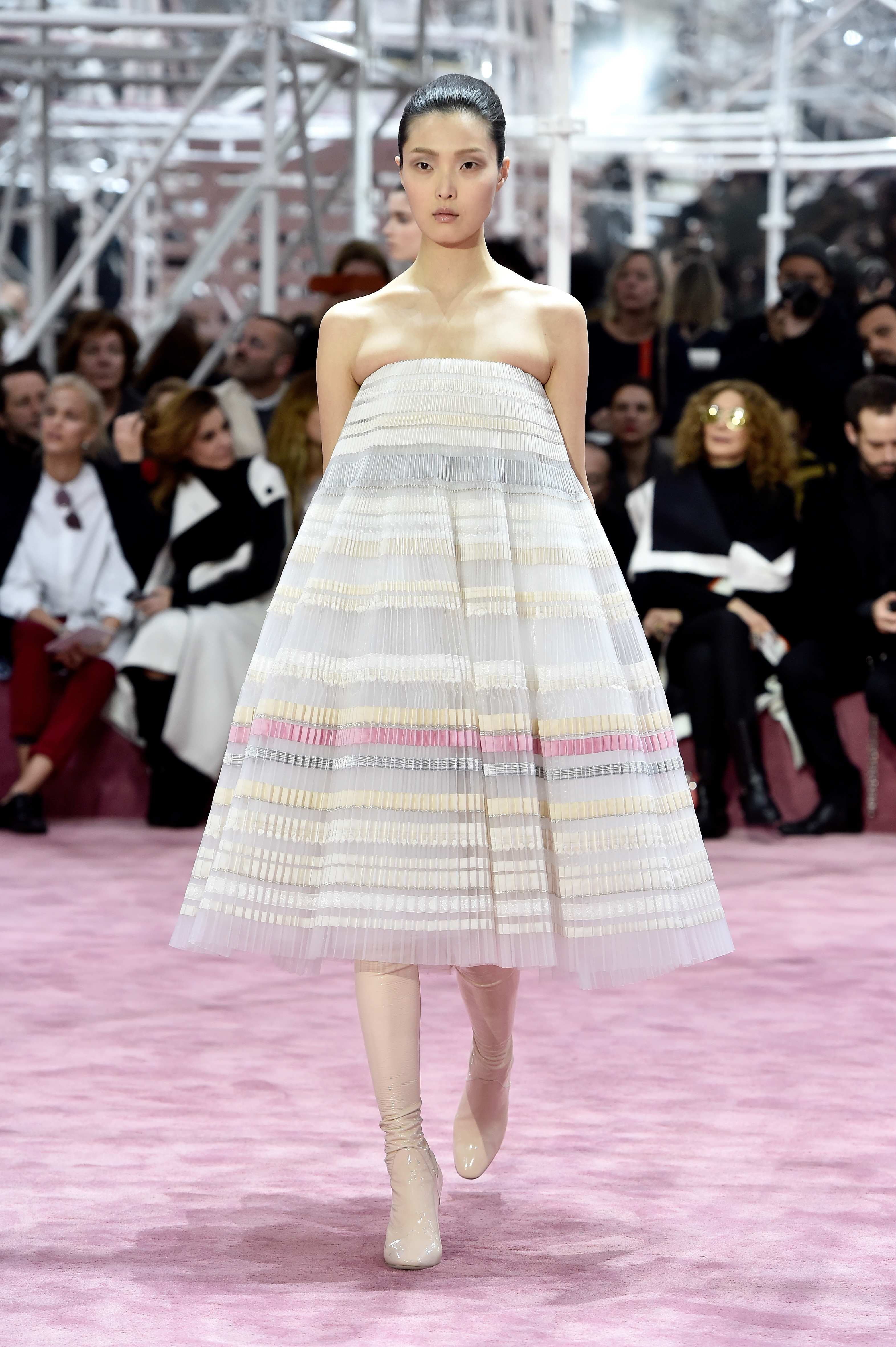 PARIS, FRANCE - JANUARY 26: A model walks the runway during the Christian Dior show as part of Paris Fashion Week Haute Couture Spring/Summer 2015 on January 26, 2015 in Paris, France. (Photo by Pascal Le Segretain/Getty Images)