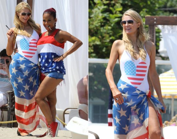 Paris Hilton and Christina Millian hanginging out in Malibu