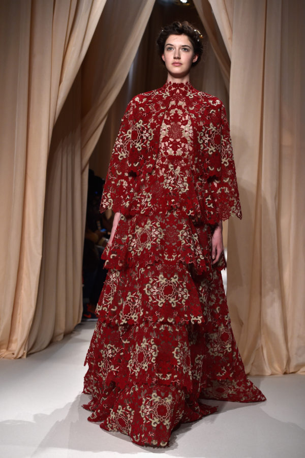 A Valentino creation at Paris Fashion Week Haute Couture Spring/Summer 2015