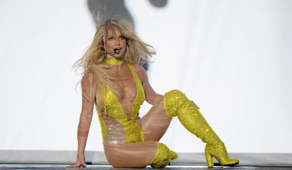 Britney Spears performs onstage during the 2016 VMAs
