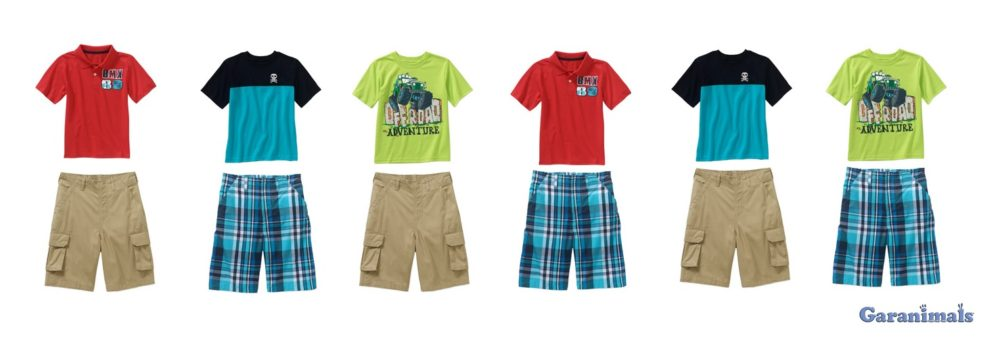 Garanimals mix and match boys coordinates