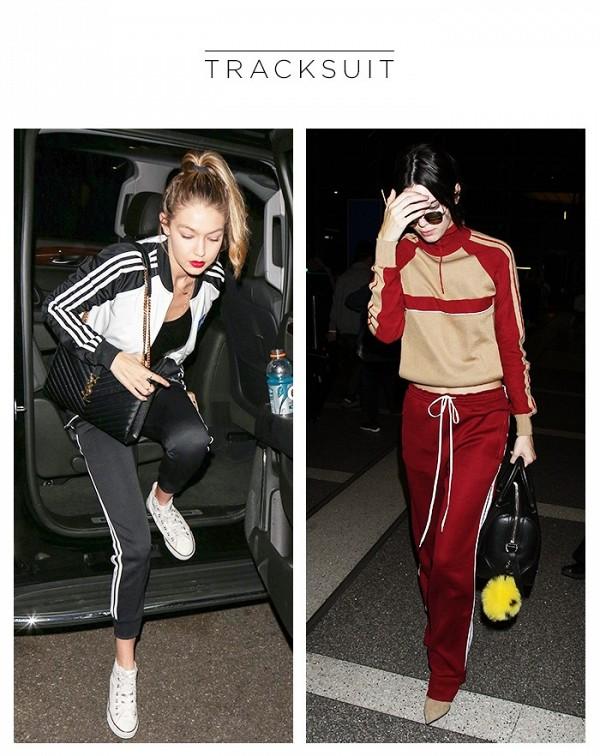 Gigi Hadid and Kendal Jenner Adidas Originals tracksuit;