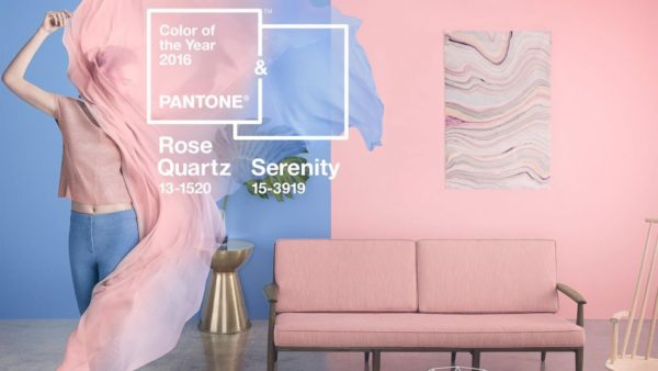 Pantone 2016 Colors of the Year were Rose Quartz and Serenity Blue