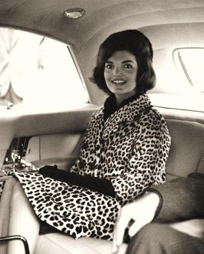 Jackie Kennedy in her Oleg Cassini Leopard Coat