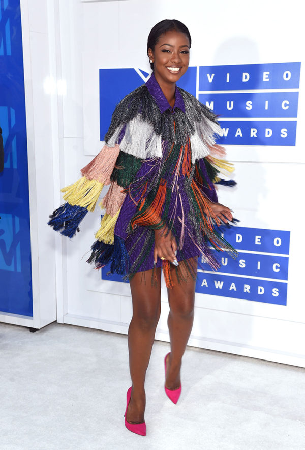 Justine Skye in Missoni was colorful, quirky and cute
