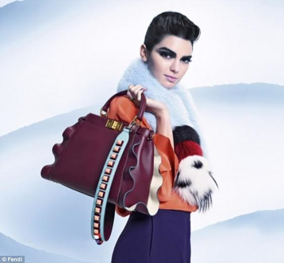 "Fendi went with ""it girl"" Kendall jennar again for their Fall 2016 campaign"
