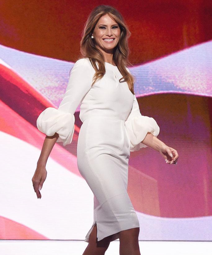 Melania Trump in a Roksanda dress