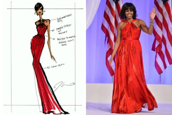 Michelle Obama 2012 Inauguration Dress by Jason Wu