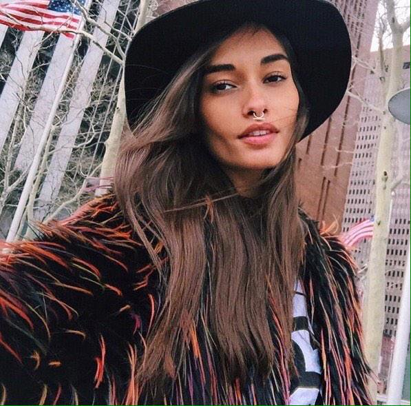 Model Gizele Oliveira at NYFW