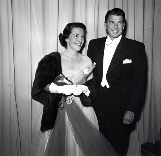 Nancy and Ronald Regan at the Oscars in the early 1950s