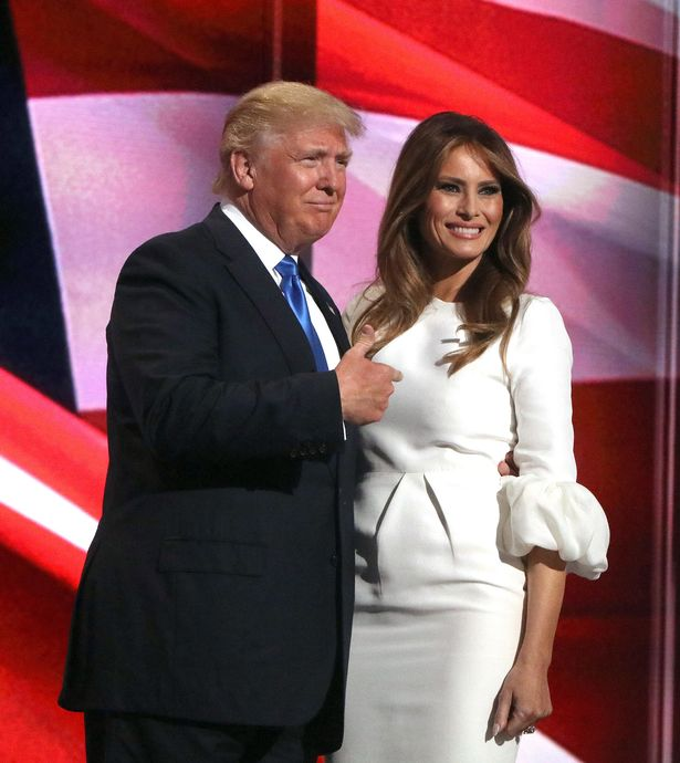 At the 2016 Republican National Convention in Cleveland, OH Melania Trump wore a gorgeous white Roksanda dress