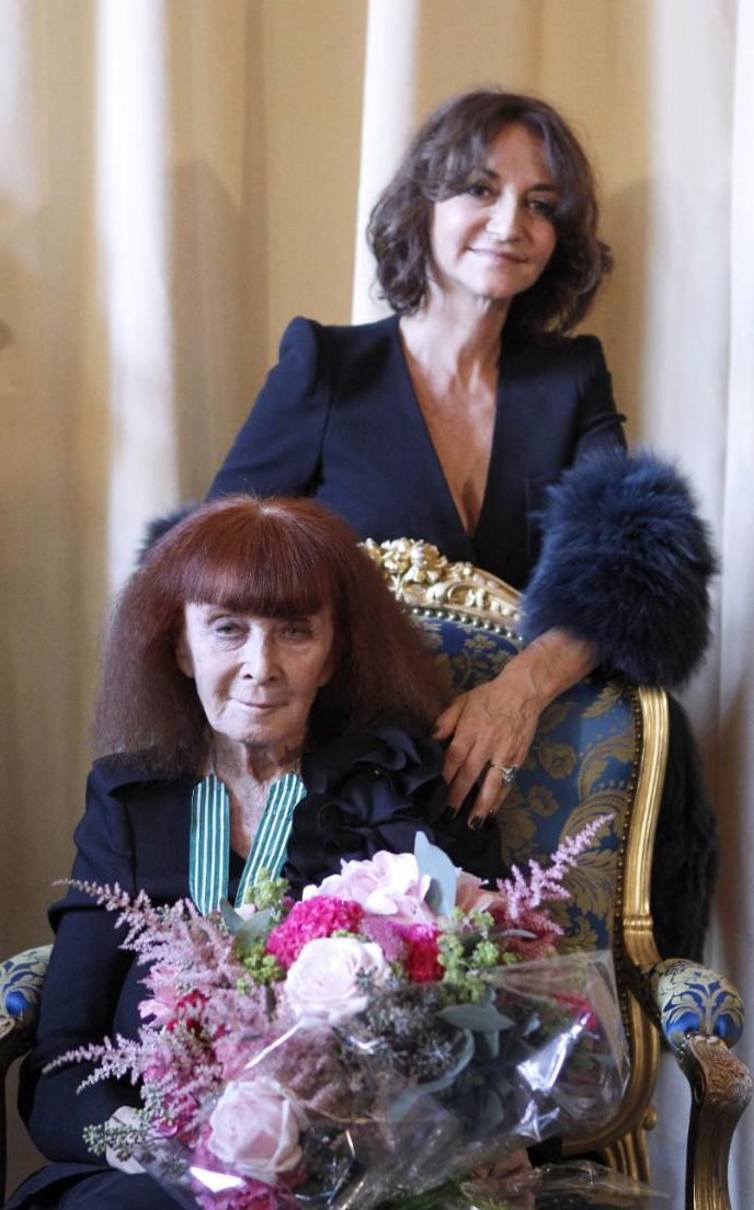 Sonia Rykiel and her daughter Nathalie Rykiel in 2012