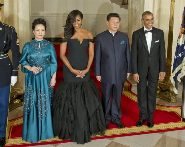 State Dinner honoring Chinese President Xi Jinping Michelle Obama wore Vera Wang