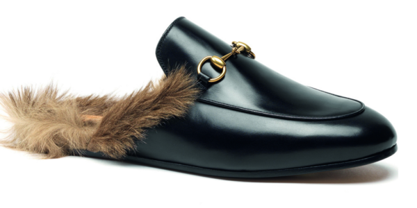 The most talked-about shoe of the season is half Gucci loafer, half kangaroo fur-lined slipper.
