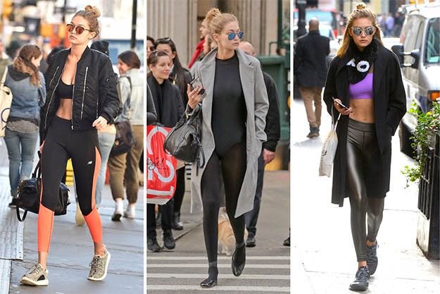 It-girl Gigi Hadid knows how to creat the perfect transitional athleisure looks