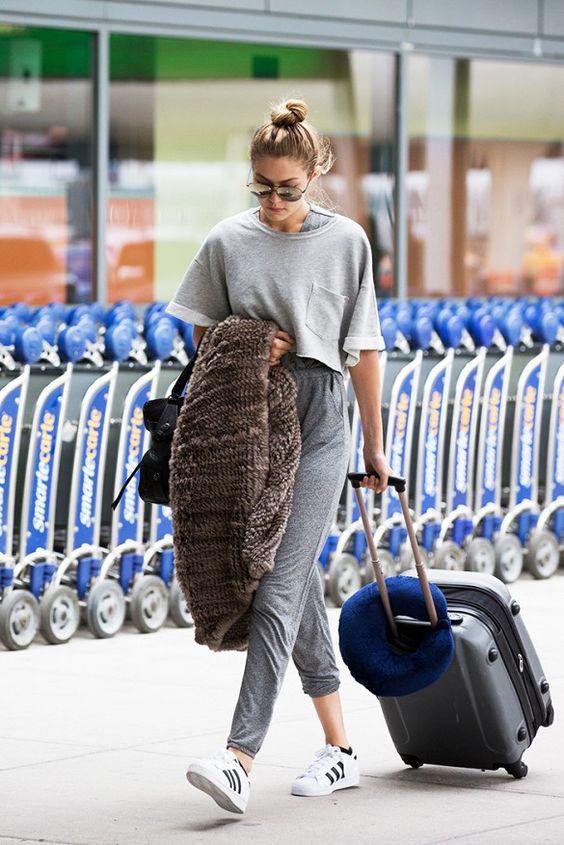 Gigi Hadid is always fashionable on the go