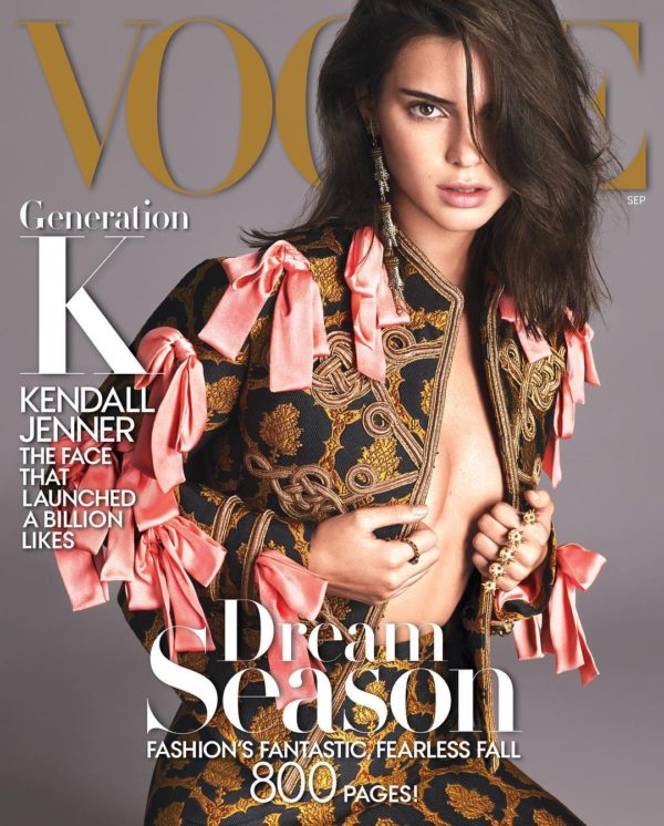 The official cover of Vogue's September issue