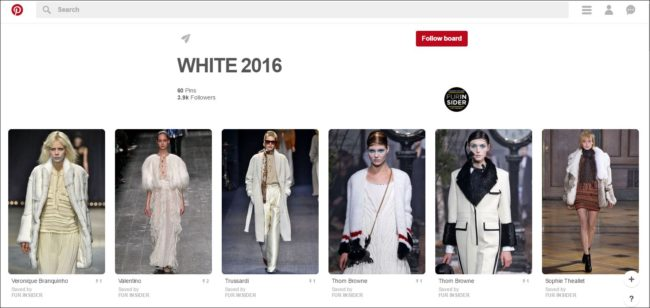 FurInsider's 2016/2017 winter white Pinterest board