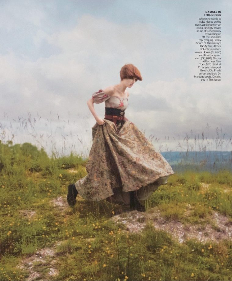 """""""New Romantics"""" fashion editorial in Vogue September 2016 issue"""