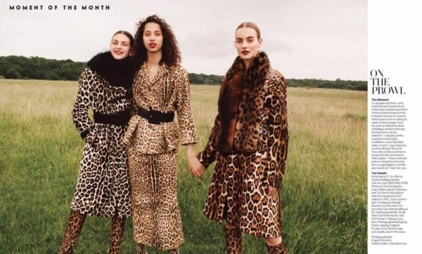 On the Prowl- Vittoria Ceretti and Yasmin Wijanldum in On the Prowl for Vogue September 2016