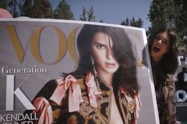 Kendall Jenner showing some love before the issue hit newsstands