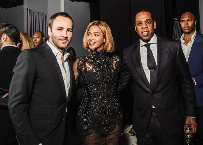 Beyonce and Jay Z attended the Tom Ford Fall 2015 Los Angeles show