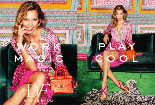 Diane Von Furstenberg Spring 2016 Campaign featuring Karlie