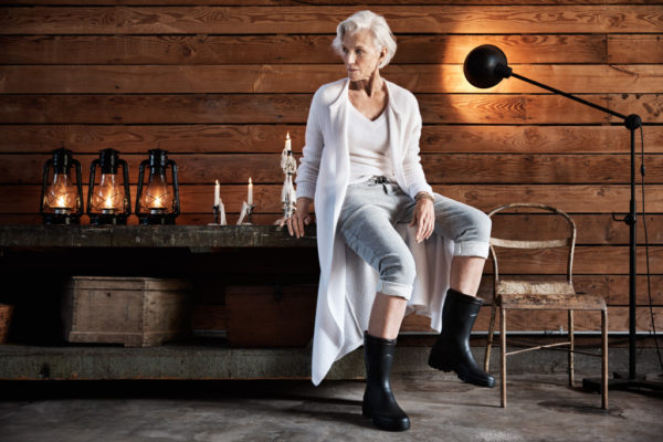 James Perse's Fall 2016 campaign starring Maye Musk