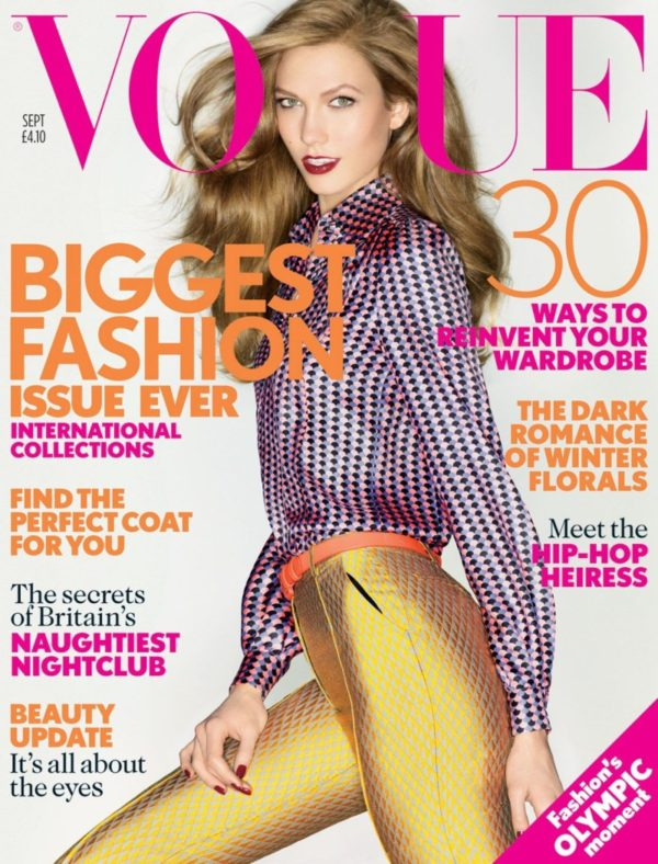 Karlie Kloss Graces the September 2012 Cover of Vogue US