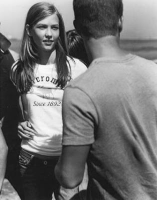 Karlie Kloss as an Abercrombie Kid