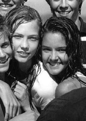 Karlie Kloss with Chelsea Ricketts for Abercrombie Kids photoshoot produced by Bruce Weber