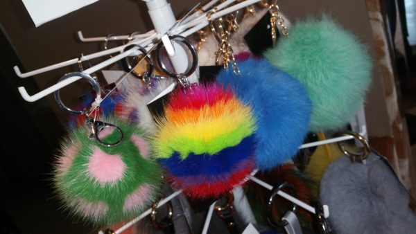 Alaskan Fur Company pom poms and accessories in a variety of colors