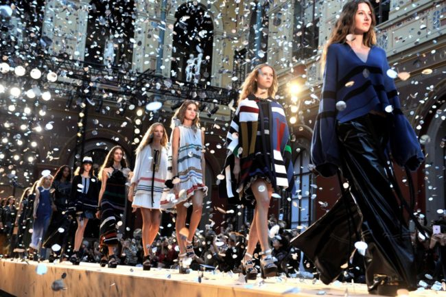 The finale of the Sonia Rykiel SS17 runway show at Paris Fashion Week