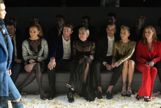The star-studded view from last year's Tom Ford Fall 2015 runway show in Los Angeles included the likes of Jennifer Lopez, Miley Cyrus, Scarlett Johansson and Amy Adams to name a few