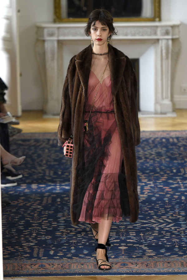 Valentino Spring 2017 classic mink style