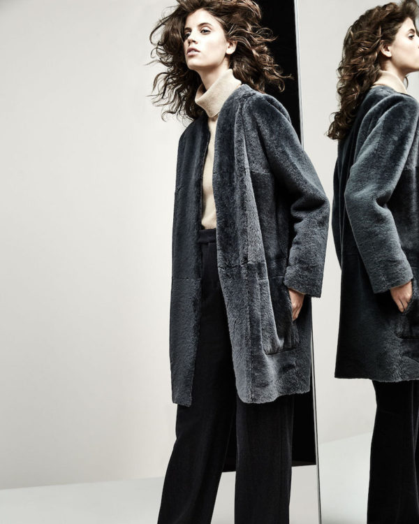 Vince reversible shearling coat from Fall 2016 collection