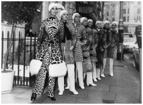 Dior goes from the floral flowy female to the savage animal female. Dior launched its use of Leopard print fur in 1947