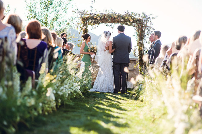 Warmer weather can mean lovely outdoor weddings