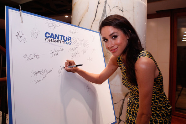 Meagan at an annual Charity Day event hosted by Cantor Fitzgerald in 2013