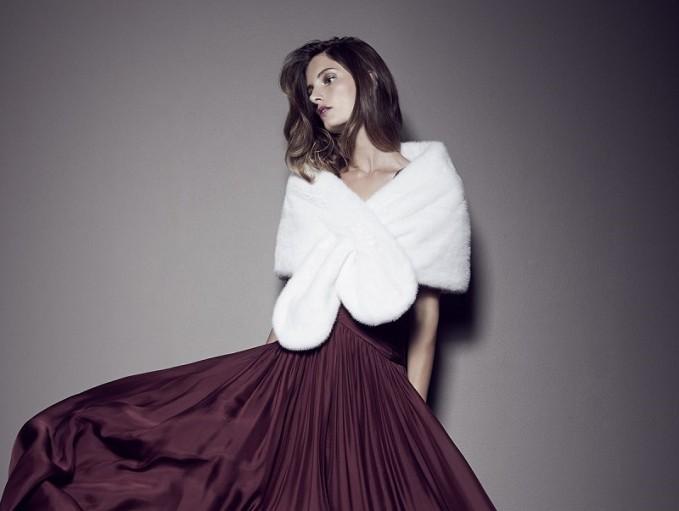 Monique Lhuillier Mink Fur Pull-Through Wrap